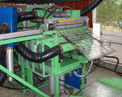 Air molding production line for blister packaging
