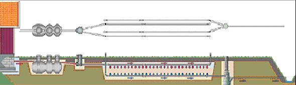 Схъема размещения септика и фильтрующих образований